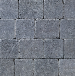 Tegula Tumbled Charcoal 50mm Medium