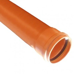 Polypipe 110mm Pipe Single Socket 3 Metre