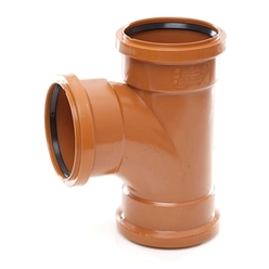 Polypipe 110mm Triple Socket 87Deg Equal