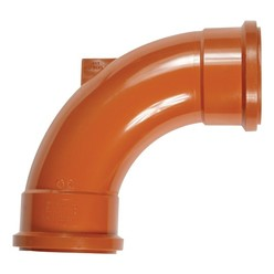Polypipe 110mm Double Socket 87Deg Rest Bend