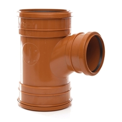 Polypipe 160mm Triple Socket 87.5Deg Unequal