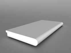 White Bullnose Windowboard 5 Metre - 150x9x4