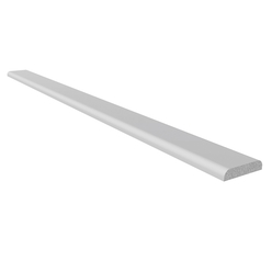 White 25mm D Section Window Trim