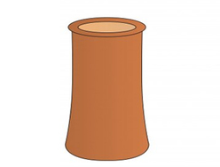 Chimney Pot 300x225mm Red Roll Top