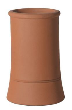 Chimney Pot 450x225mm Red Roll Top