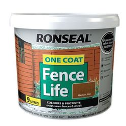 One Coat Fencelife Medium Oak 10L