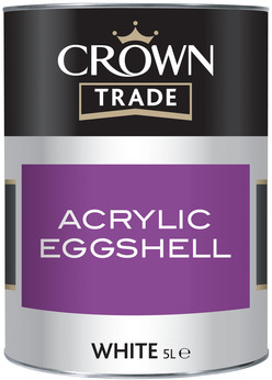 Crown Trade Water Based Eggshell Acrylic White 5L