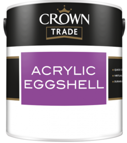 Crown Trade Water Based Eggshell Acrylic White 2.5L