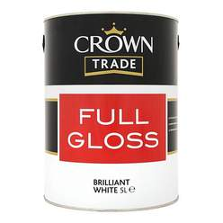Crown Trade Gloss Brilliant White 5L