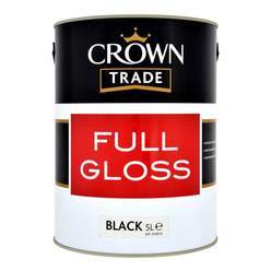 Crown Trade Gloss Black 5L