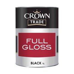 Crown Trade Gloss Black 1L