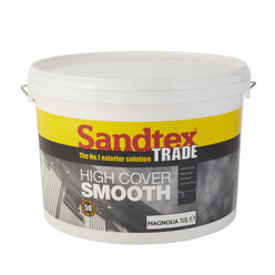 Sandtex Trade High Cover Smooth Magnolia 10L