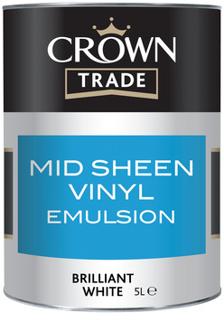 Crown Mid Sheen White 5L