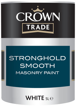 Crown Smooth Stronghold Exterior Paint White 5L