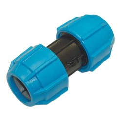 25mm Polyfast Straight Coupler Mdpe