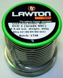 500g reel of lead free solder wire