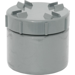 Screwed Access Cap Grey 110mm