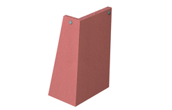 Clay external vertical angle tile