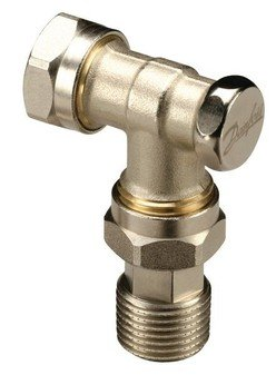 Danfoss Randall RLV-D Compression Fit Valve with Lockshield Rad Valve