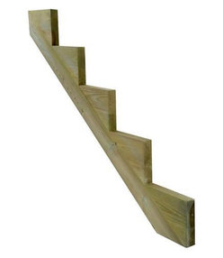 Decking Stair Stringer - 5 Tread