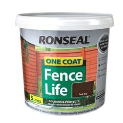 One Coat Fencelife Dark Oak 5L