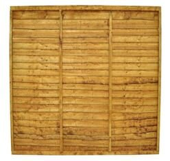 Trade Lap Fence Panel - Golden Brown