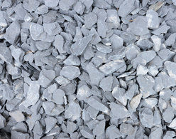 Blue Slate Chippings. Size:  25mm Down