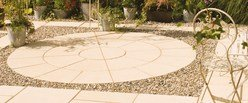Bradstone Buff Textured Paving Circle Feature