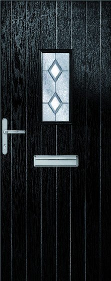 Chancery Composite Door Set with decorative glass
