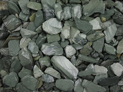 Green slate Chippings 25-40mm