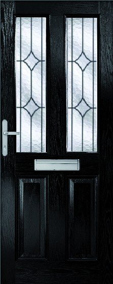 Malton Composite door set with decorative glass