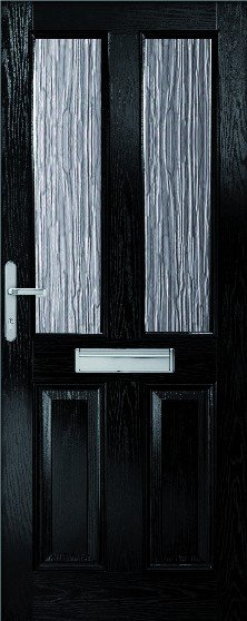 Malton Composite door set with obscure glass