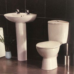 Sanitary 4 Piece Set Plus Seat