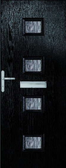 Siena Composite Door set with obscure glass