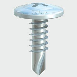 Wafer Head Self-Drill Screw PH2 -BZP 9 x 9/16 1000 Box