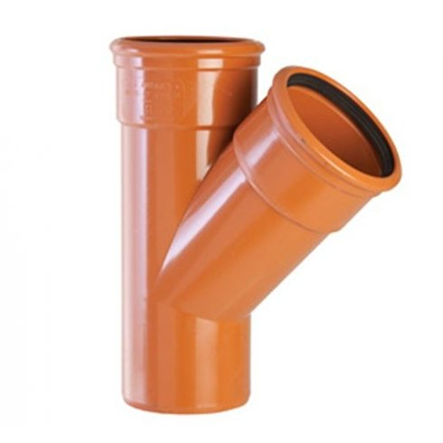 Polypipe 110mm Double Socket 45Deg Equal