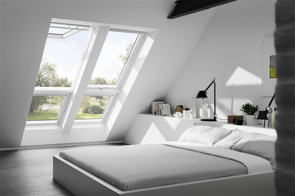 velux gpu sk06 0070 white top hung window laminated 114cm x 118cm mcnairs building supplies. Black Bedroom Furniture Sets. Home Design Ideas