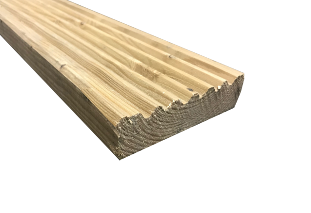 Red Pine Decking Board - 32mm x 120mm