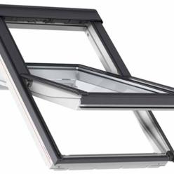velux ggu pk08 0062 white centre pivot window triple glaze 94 x 140cm mcnairs building supplies. Black Bedroom Furniture Sets. Home Design Ideas