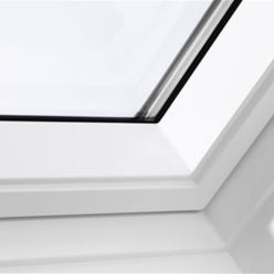 velux gpu sk06 0070 white top hung window laminated 114cm x 118cm mcnairs building supplies