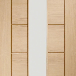 Palermo Internal Oak Door 1 Light with Clear Glass Thumbnail