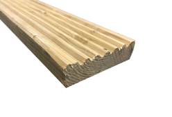 Red Pine Decking Board - 32mm x 120mm Thumbnail